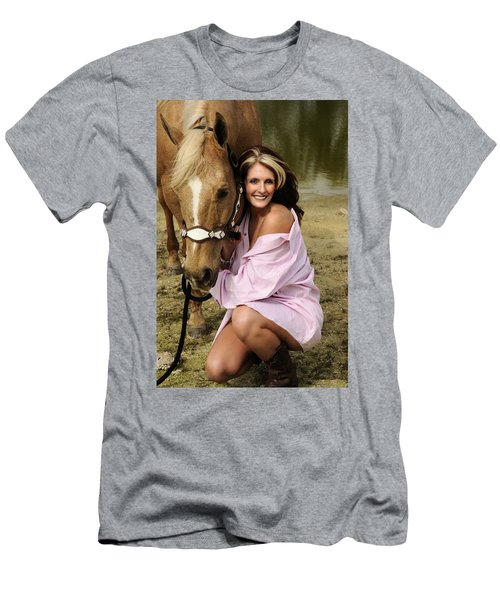 Lady And Her Horse 2 Men's T-Shirt (Athletic Fit)