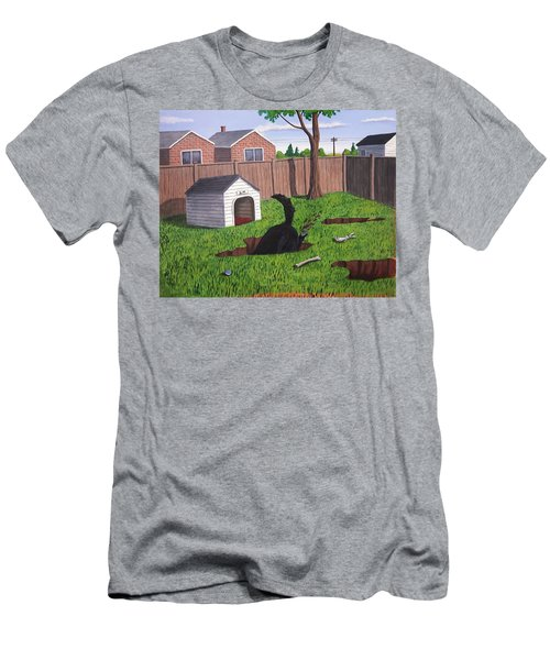 Lady Digs In The Backyard Men's T-Shirt (Athletic Fit)