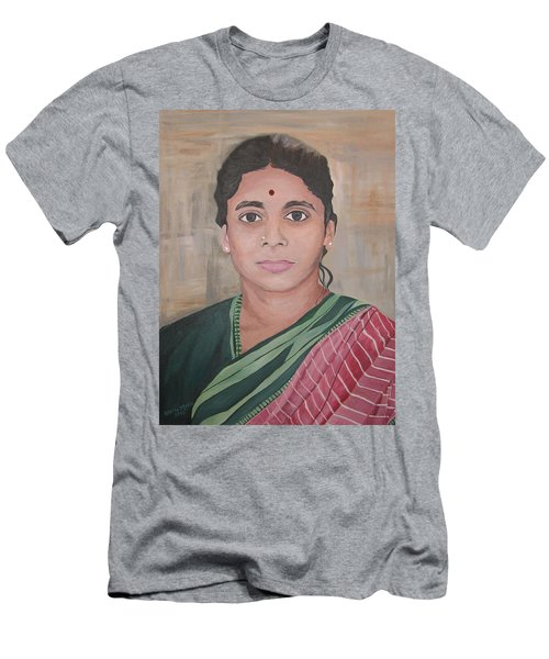 Lady From India Men's T-Shirt (Athletic Fit)