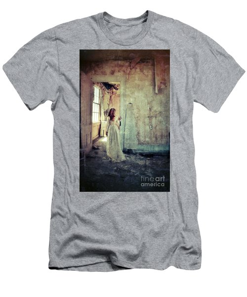 Lady In An Old Abandoned House Men's T-Shirt (Athletic Fit)