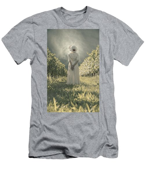 Lady In Vineyard Men's T-Shirt (Athletic Fit)