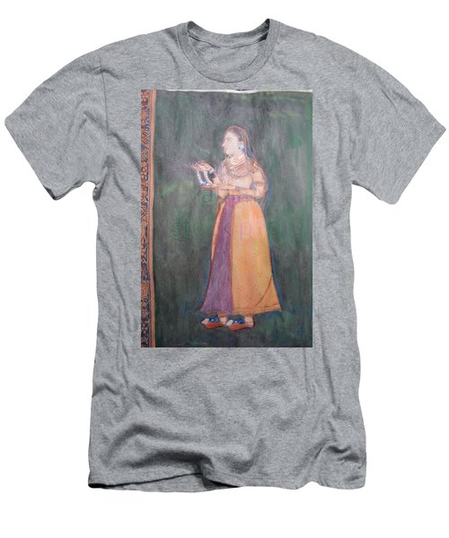 Men's T-Shirt (Slim Fit) featuring the painting Lady Of The Court by Vikram Singh