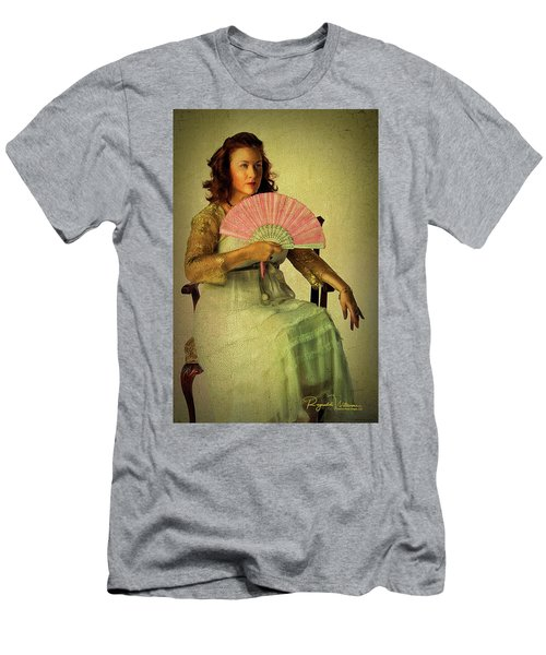 Lady With A Fan Men's T-Shirt (Athletic Fit)