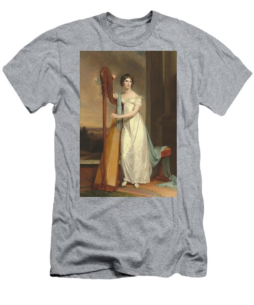 Lady With A Harp Men's T-Shirt (Athletic Fit)