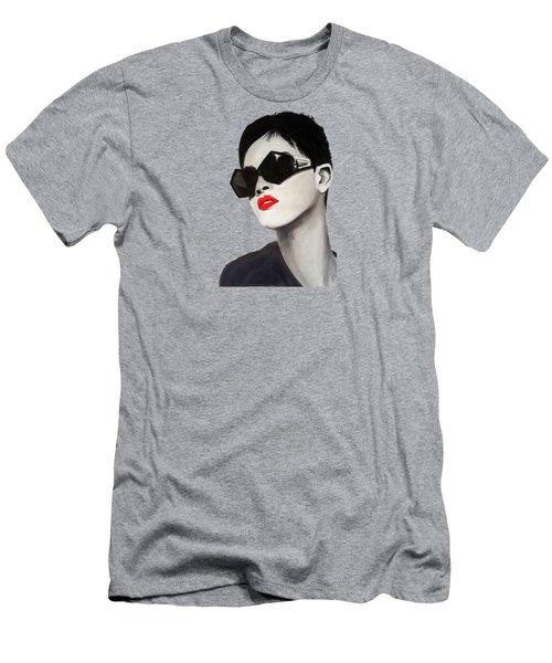 Lady With Sunglasses Men's T-Shirt (Slim Fit) by Birgit Jentsch