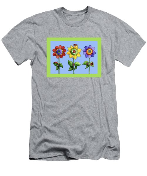 Ladybugs In The Garden Men's T-Shirt (Slim Fit) by Shelley Wallace Ylst