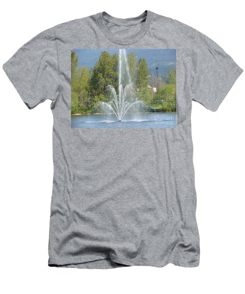 Lafarge Lake Fountain Men's T-Shirt (Slim Fit) by Rod Jellison
