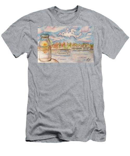 Lake Hopatcong Men's T-Shirt (Athletic Fit)