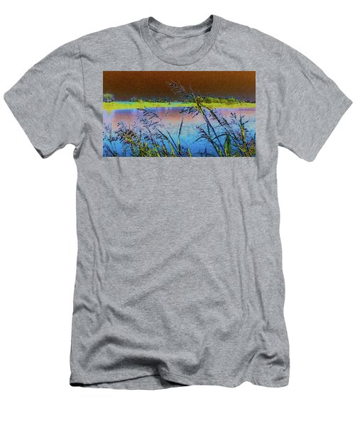 Men's T-Shirt (Slim Fit) featuring the photograph Lake II by Donna G Smith