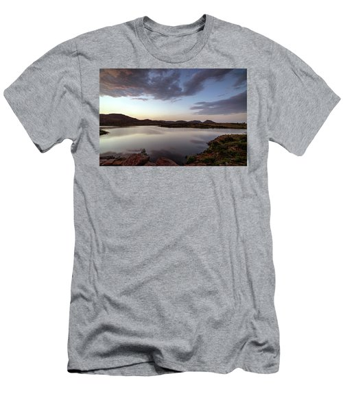 Lake In The Wichita Mountains  Men's T-Shirt (Athletic Fit)