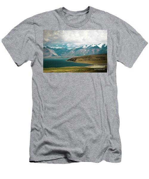 Lake Manasarovar Kailas Yantra.lv Tibet Men's T-Shirt (Athletic Fit)