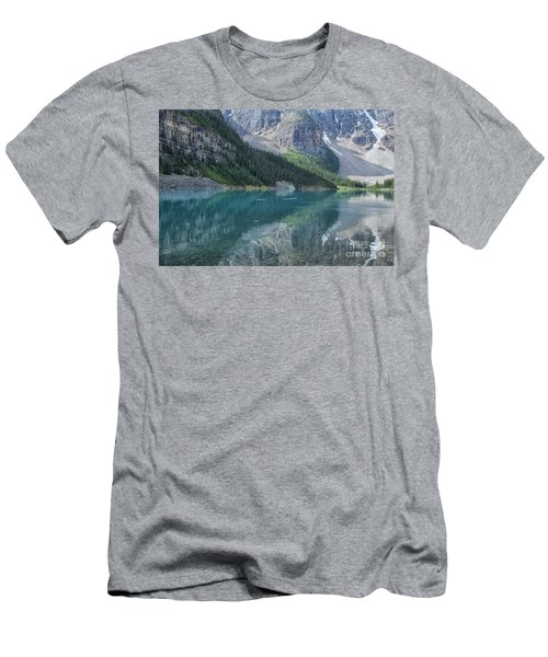 Men's T-Shirt (Slim Fit) featuring the photograph Lake Moraine by Patricia Hofmeester