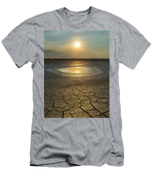 Lake On Fire Men's T-Shirt (Athletic Fit)
