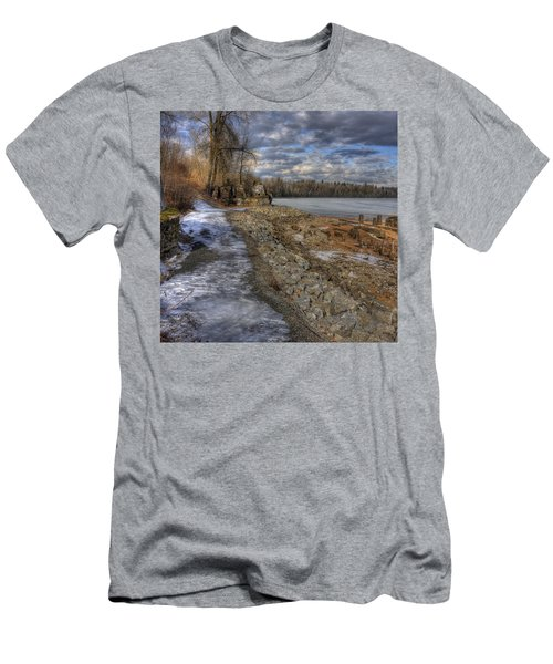 Lake Pend D'oreille At Humbird Ruins Men's T-Shirt (Athletic Fit)