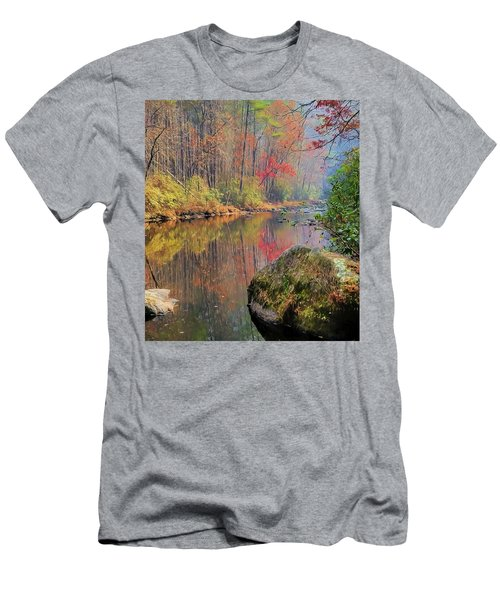 Men's T-Shirt (Slim Fit) featuring the painting Chattooga Paradise by Steven Richardson