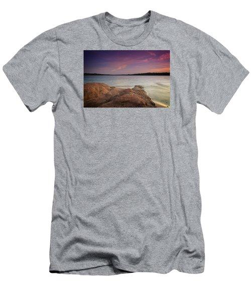Lake Sunset II Men's T-Shirt (Slim Fit)