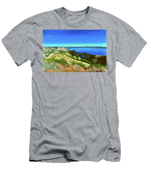 Lake Tahoe Panorama Men's T-Shirt (Athletic Fit)