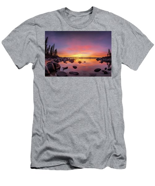 Lake Tahoe Sunset Peace Men's T-Shirt (Athletic Fit)