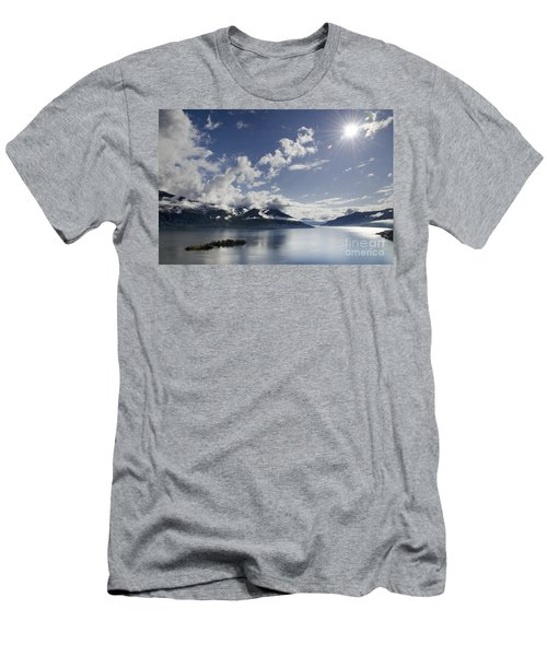Lake With Islands Men's T-Shirt (Athletic Fit)