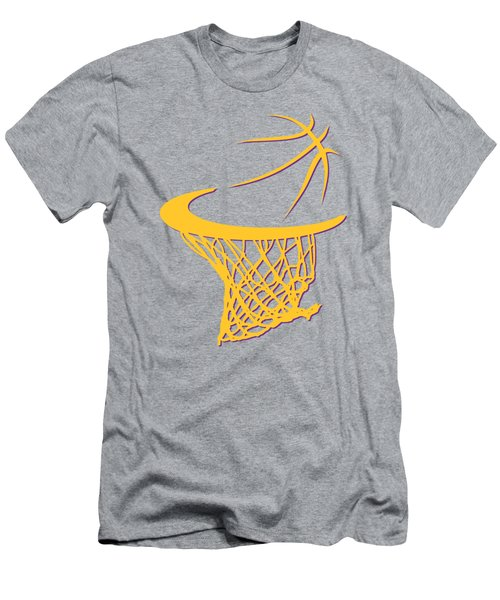 Lakers Basketball Hoop Men's T-Shirt (Slim Fit) by Joe Hamilton