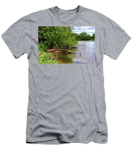 Lakeside Blossoms Men's T-Shirt (Athletic Fit)