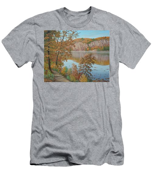 Lakeside In October Men's T-Shirt (Athletic Fit)