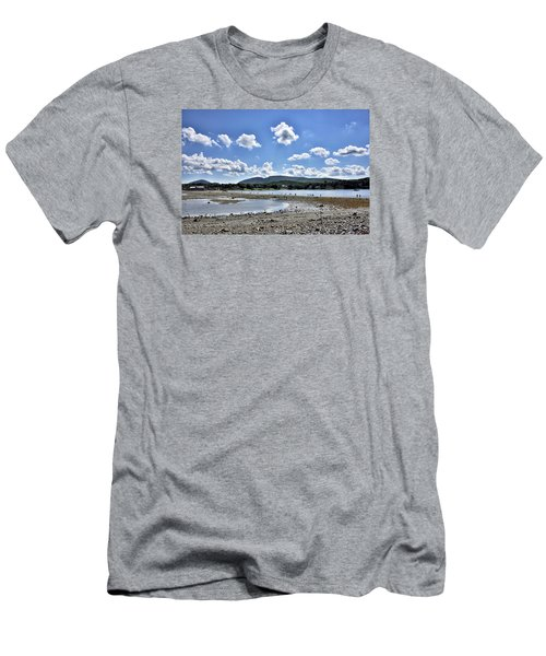 Land Bridge From Bar Harbor To Bar Island - Maine Men's T-Shirt (Slim Fit) by Brendan Reals