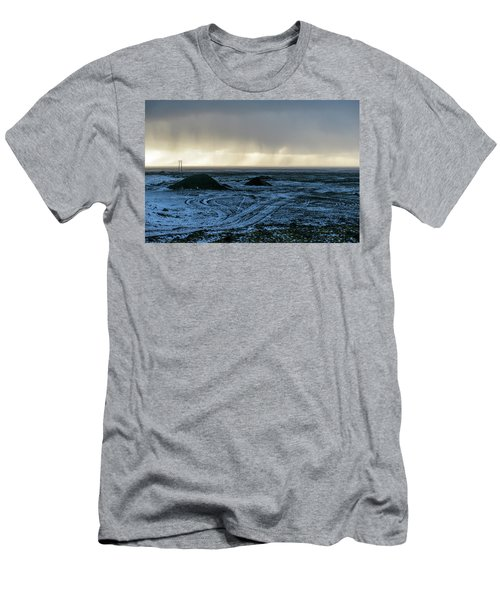 Men's T-Shirt (Athletic Fit) featuring the photograph land of Lava by Dubi Roman