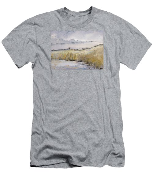 Landscape In Gray Men's T-Shirt (Slim Fit) by Carolyn Doe
