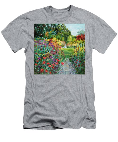 Landscape With Poppies Men's T-Shirt (Athletic Fit)