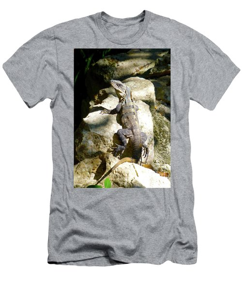 Men's T-Shirt (Athletic Fit) featuring the photograph Large Lizard M by Francesca Mackenney