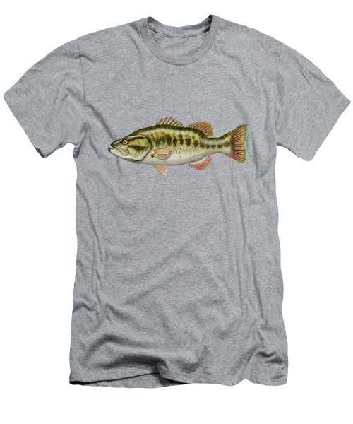 Largemouth Bass Men's T-Shirt (Slim Fit) by Serge Averbukh