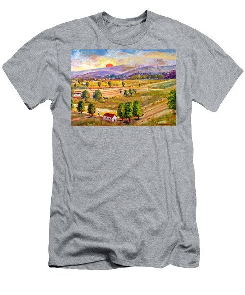 Lasithi Valley In Greece Men's T-Shirt (Athletic Fit)