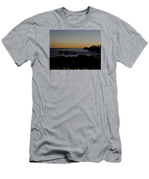 Men's T-Shirt (Slim Fit) featuring the photograph Last 2015 Sunset by Lora Lee Chapman