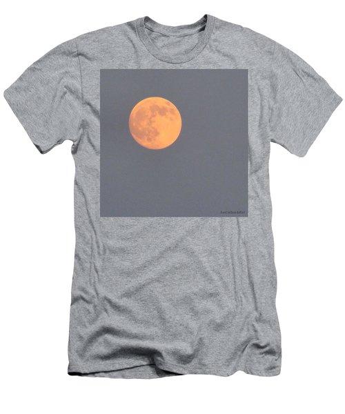 Last #evening's Almost #orange #moon Men's T-Shirt (Athletic Fit)