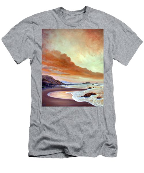 Late Afternoon On San Simeon Beach Men's T-Shirt (Slim Fit) by Michael Rock