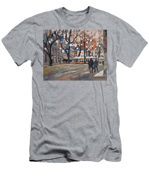 Late November At The Our Lady Square Maastricht Men's T-Shirt (Slim Fit) by Nop Briex