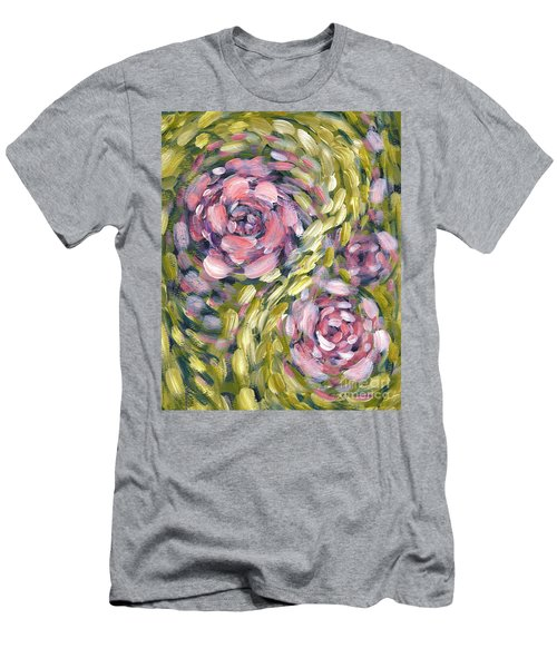 Men's T-Shirt (Slim Fit) featuring the digital art Late Summer Whirl by Holly Carmichael