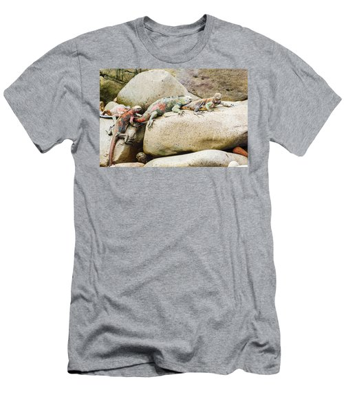 Lava Lizard On Galapagos Islands Men's T-Shirt (Slim Fit) by Marek Poplawski
