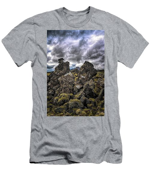 Lava Rock And Clouds Men's T-Shirt (Athletic Fit)