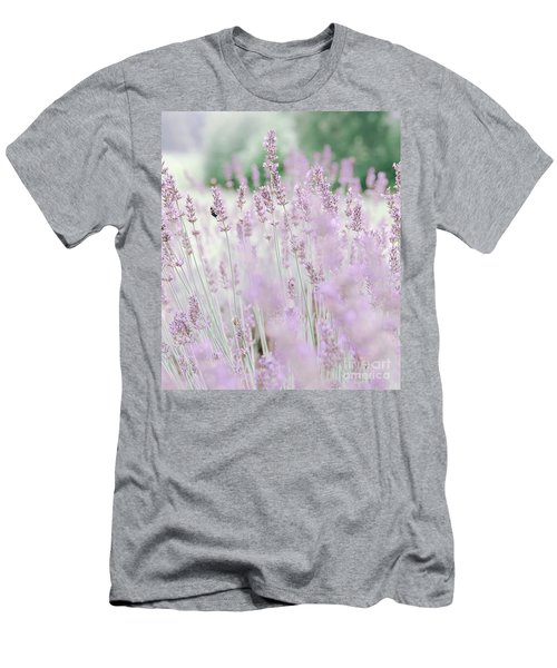 Men's T-Shirt (Athletic Fit) featuring the photograph Lavender 6 by Andrea Anderegg
