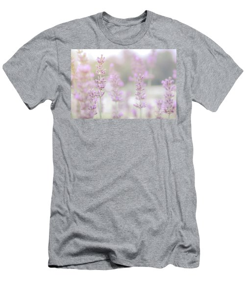 Men's T-Shirt (Athletic Fit) featuring the photograph Lavender 7  by Andrea Anderegg