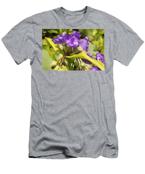 Men's T-Shirt (Athletic Fit) featuring the photograph Lavender And Lime by Deborah  Crew-Johnson
