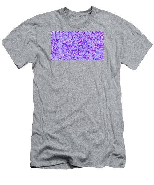 Lavender Blue 1 Men's T-Shirt (Slim Fit) by Linda Velasquez