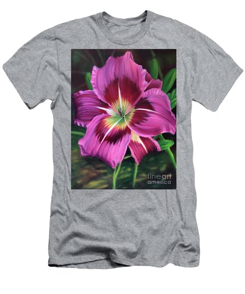 Lavender Daylily Men's T-Shirt (Athletic Fit)