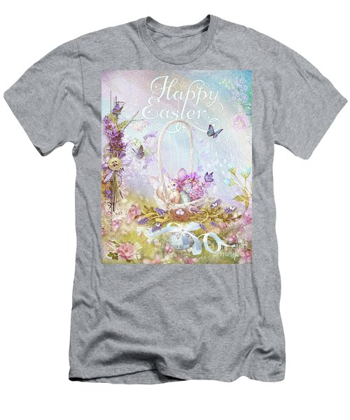 Lavender Easter Men's T-Shirt (Slim Fit) by Mo T