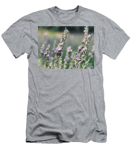 Men's T-Shirt (Slim Fit) featuring the painting Lavender by Eric  Schiabor