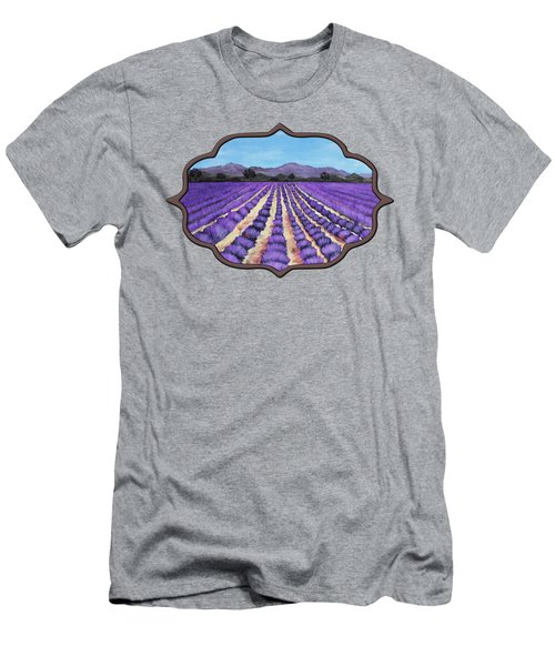 Lavender Field In Provence Men's T-Shirt (Athletic Fit)