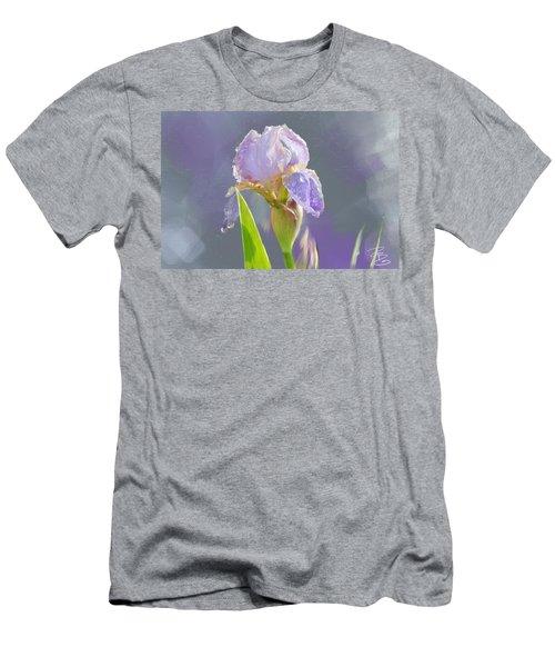 Lavender Iris In The Morning Sun Men's T-Shirt (Athletic Fit)