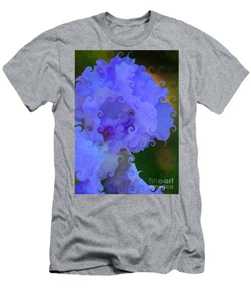 Lavender Curlicue Iris  Men's T-Shirt (Athletic Fit)